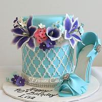 Box of flowers cake