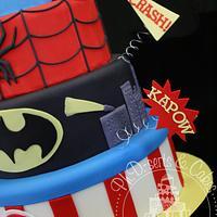 Super Hero Birthday Cake by PhDserts