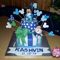 Baby Micky Mouse 1st Birthday Cake