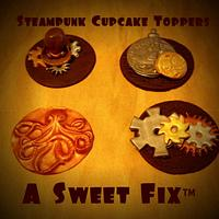Steam Punk Cupcake Toppers