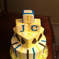 Tiered Baby Block Cake by lanett