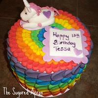 Rainbow/Unicorn Cake
