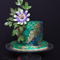 Cake with Passion Flower