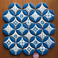 Mediterranean Tile Cookies