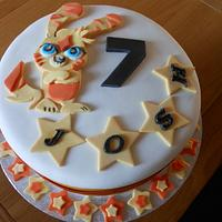 """Friends sons """"Moshi Monster"""" cake."""