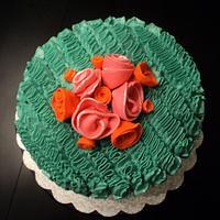 Ruffled  cake by Elisa's Sweet Cakes
