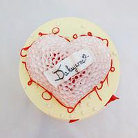 Wafer paper heart