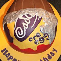 Cadbury's Creme Egg Cake