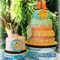 Shabby Chic Cowgirl cake