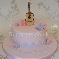 Mum Guitar cake
