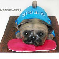 Pug Dog Themed Cake!