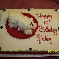 For a Sweet Young Lady, A puppy cake!