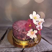 Pink shades cake