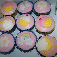 Sweet pink cupcakes by Laura Jabri
