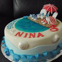 Beach cake by Sabina