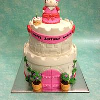 Hello Kitty Castle Cake :D :D