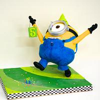 Yippeee!! Stuart found a present! Minion Armature Cake