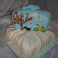 """Sweet Pickings"" Radley Bag 40th Birthday Cake by Christine"