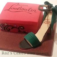 Christian Louboutin inspired Icing Shoe Cake by RazsCakes