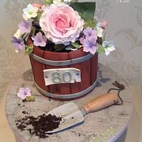 Garden planter cake