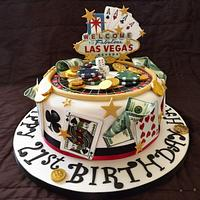 Las Vegas Theme Cake :) by Storyteller Cakes