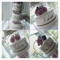 vintage wedding by The Snowdrop Cakery