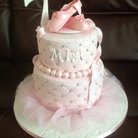 Quilted ballet cake