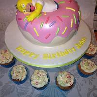 Homer Simpson Donut Cake
