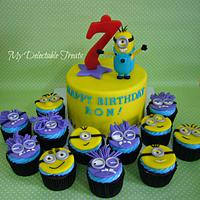 Minion Themed Cake and Cupcakes for Ron Audemar's Birthday