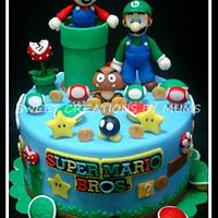 Mario Bro. Themed Cake
