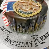 military birthday cake