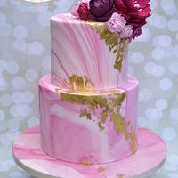 Marble Engagement Cake