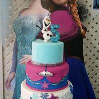 Frozen Birthday cake!!!!! by DeliciasGloria