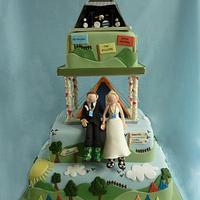 Glastonbury Festival Wedding Cake