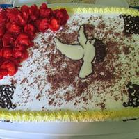 Strawberry cake for confirmation