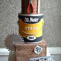 Craftsman's birthday cake