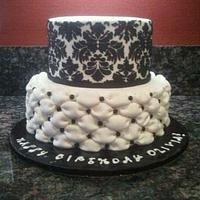 ~Damask and Billowed Cake~