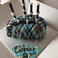 My sons 8th Birthday Cake...Bagpipes!!