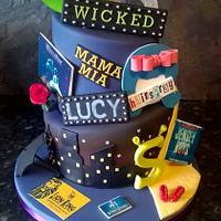 musical theatre theme cake