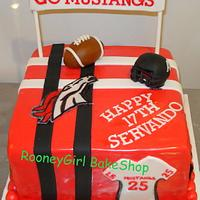 Varsity Football Teen Birthday Cake