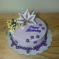 Birthday lily cake