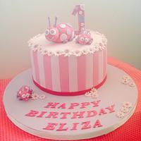 Ladybug First Birthday Cake