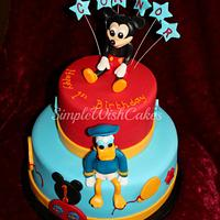 Mickey Mouse and Donald Duck by Stef and Carla (Simple Wish Cakes)