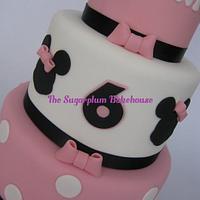 Mini 3 Tier Minnie Mouse Cake by Sam Harrison