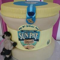 Giant jar of peanut butter