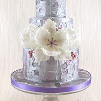 Klimt Inspired Wedding Cake