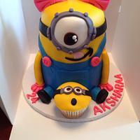Sweet girlie Minion Cake