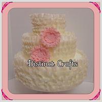 Three Tier Wedding Display Cake