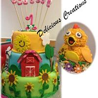 Sprout CHICA 1st Birthday cake