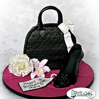 Purse & Shoe Birthday Cake
